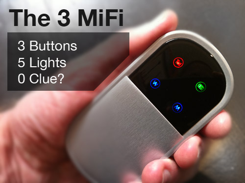 The 3 MiFi: 5 lights, 3 buttons, 0 clue?