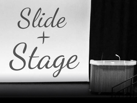 Slide + Stage: a one-day workshop on presenting