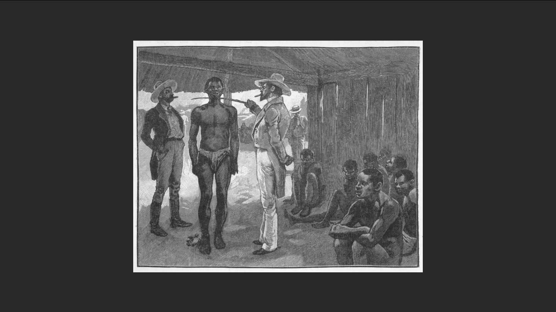 Representació d'una compra-venda d'esclaus