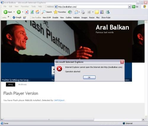 aralbalkan.com ie error