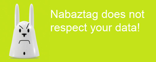Nabaztag Does not Respect Your Data
