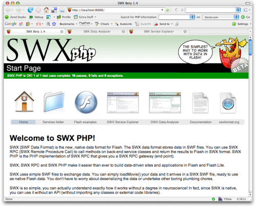 Swxphp Start Page