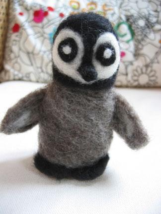 Gwin, Stephanie's little felted penguin