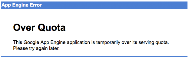 Google app Engine Over Quota