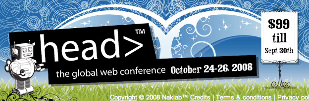 head conference new web site screenshot