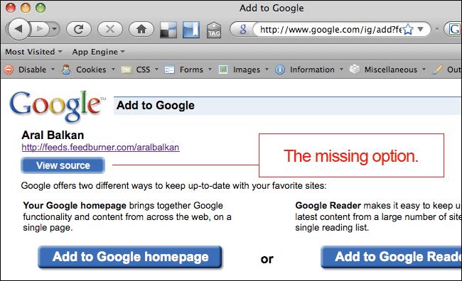 Google Reader: the missing option