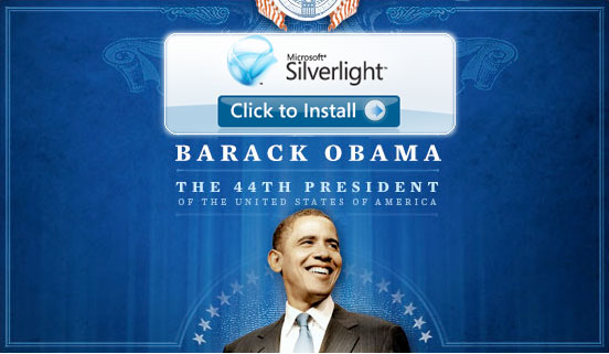 Obama Inauguration - Install Silverlight