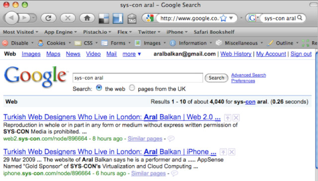 Google Search Syscon Aral