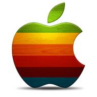 Apple Retro Wood Icon